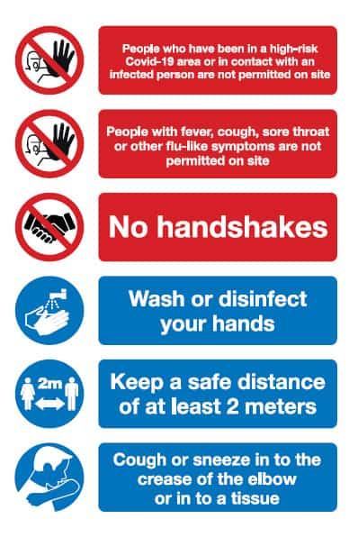 Business Signs for Coronavirus